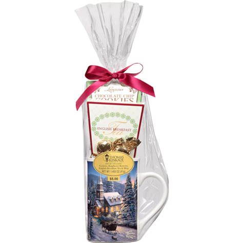 holiday thomas kinkade tea mug gift set walmart com