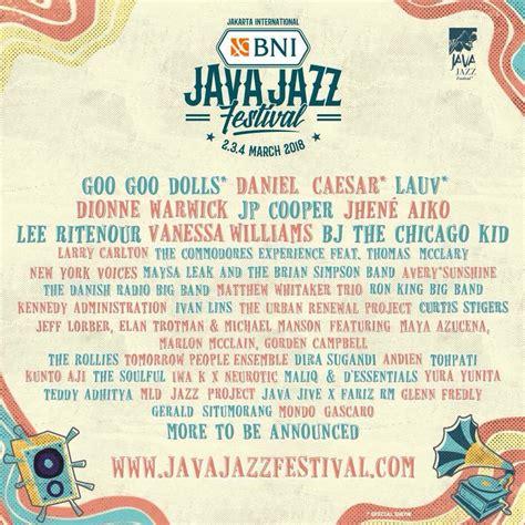 Tiket Java Jazz 2018 java jazz announce 2018 line up jhen 233 aiko daniel