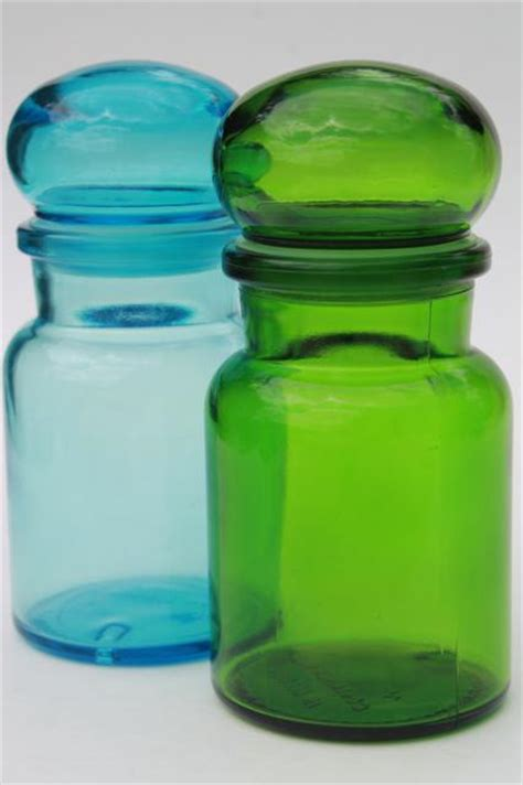 glass kitchen canisters airtight mod colored glass bottles vintage kitchen canisters