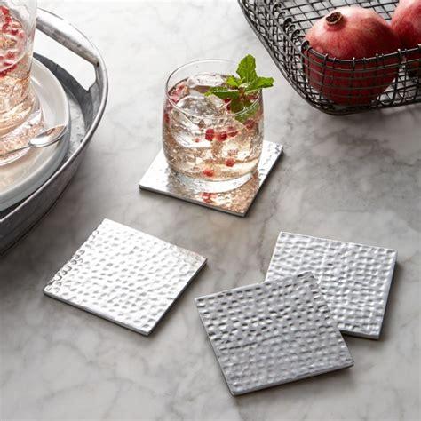 Blake Aluminum Coasters Set of 4   Reviews   Crate and Barrel