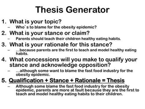 creating a thesis thesis statement generator for research paper