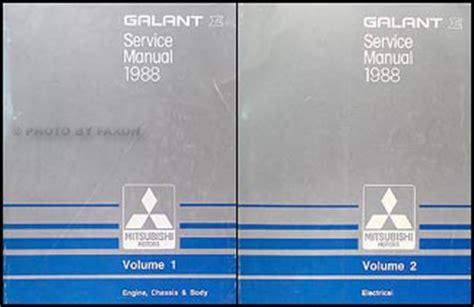 auto manual repair 1998 mitsubishi galant security system 1998 mitsubishi galant repair shop manual 2 volume set original