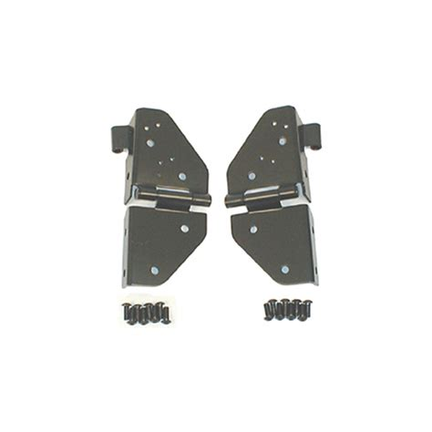 jeep yj windshield hinges all things jeep black windshield hinges by rugged ridge