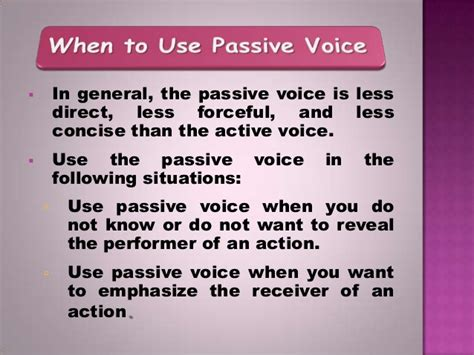 the pattern of passive voice activepassivevoice