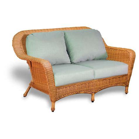 Loveseat Patio Cushions Tortuga Outdoor Lexington Wicker Love Seat Wicker Com