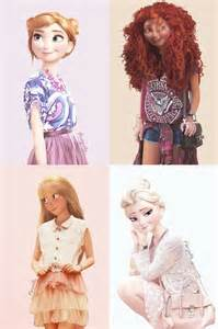 Disney princess if they were teenagers lol fizzy bubble