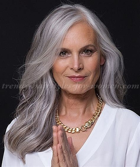 gray hair styles for women at 50 long hairstyles over 50 long hairstyle for grey hair