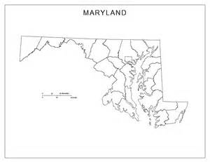 Maryland State Outline Map by Maryland Blank Map