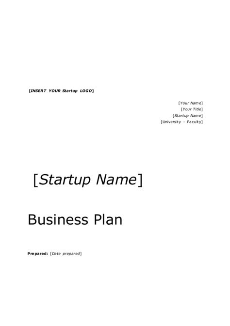 business proposal cover page template business plan title page