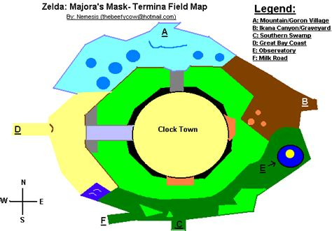 legend of zelda map pdf map of termina