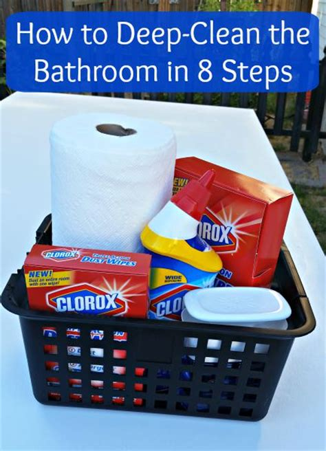 how to deep clean a bathroom how to deep clean the bathroom in 8 steps clever housewife