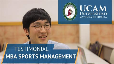 Barry Mba Sports Management by Master Mba Sports Management Ucam Of Sports