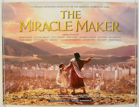 Miracle Maker A Tale The Miracle Maker 1999 Original Poster Ralph Fiennes William Hurt Ebay