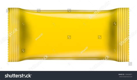 yellow chocolate bar package isolated  stock