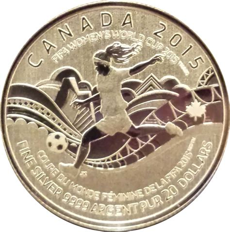 Fifa S World Cup Canada 2015 20 Silver Coin 20 dollars elizabeth ii fifa s world cup 2015 canada numista