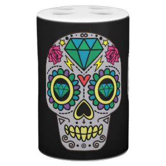 day of the dead bathroom set sugar skull bath sets zazzle