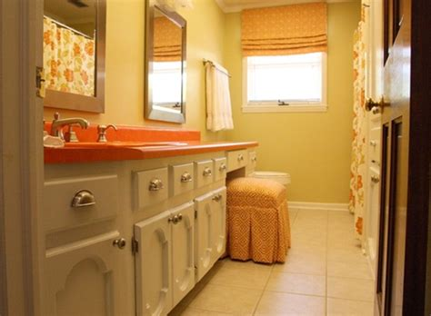 orange bathroom decorating ideas orange small bathroom ideas
