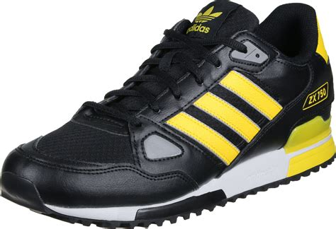 adidas zx 750 shoes black yellow
