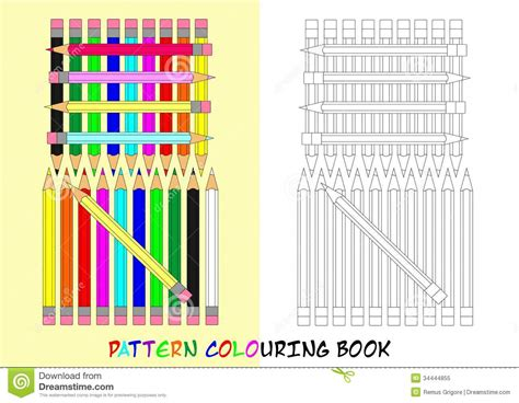 pattern format cdr pattern colouring book cdr format royalty free stock