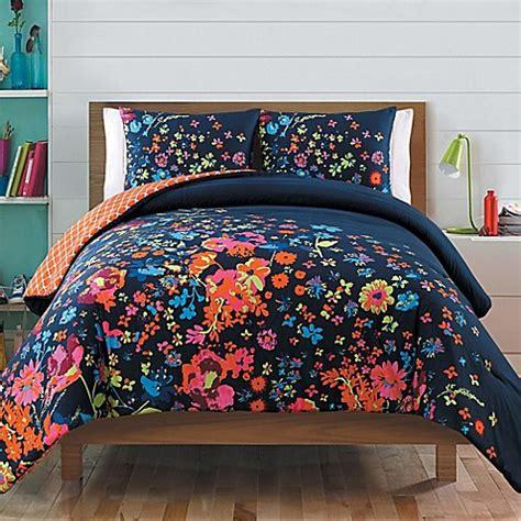 Set Navy reversible comforter set in navy bed bath beyond
