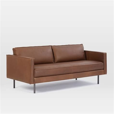 west elm axel sofa review axel leather sofa 76 quot west elm