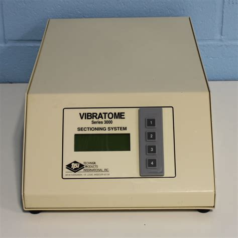 vibratome sectioning refurbished tpi vibratome series 3000 sectioning system
