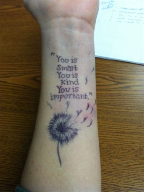 wrist tattoo sayings dandelion wrist with quote lettering tattoos