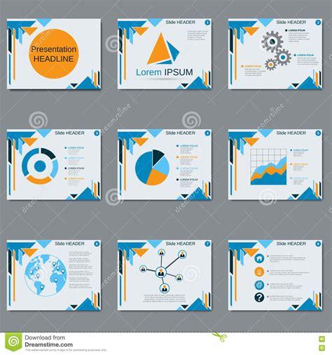 professional business presentation slide show vector