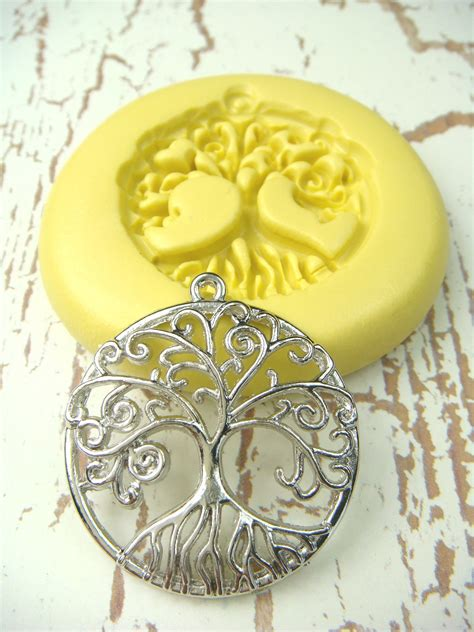 how to make a jewelry mold tree of with bail silicone mold push mold