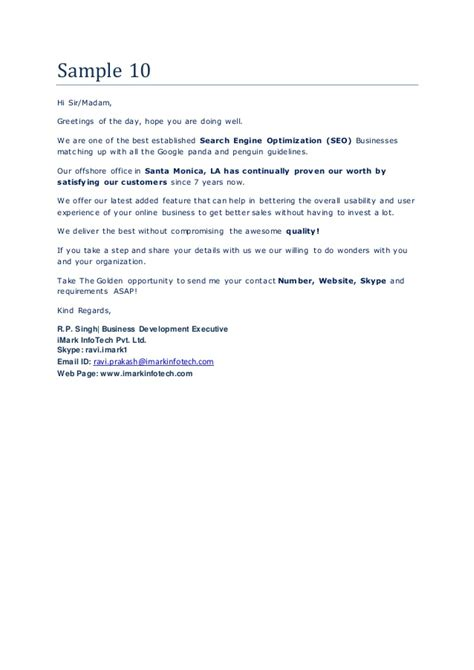 business letter morning mail sles for business proposals