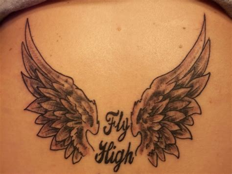 angel tattoos in memory of in memory of my husband fly high my in memory