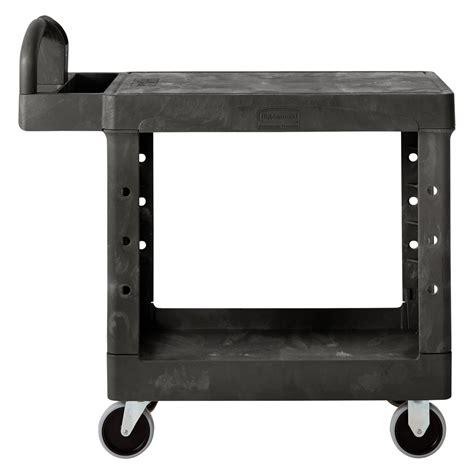 Rubbermaid Flat Shelf Utility Cart by Rubbermaid Fg450500bla Black Small Two Flat Shelf Utility Cart