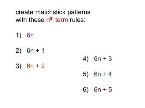 pattern rule equation median don steward mathematics teaching patterns for nth