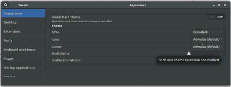 gnome user themes error cannot install gnome 3 shell theme ask ubuntu