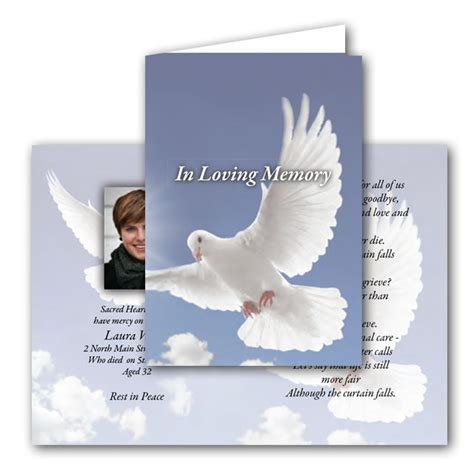 make your own memorial cards free memorial cards creative design print