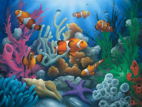 Fabric Wall Mural fish a painting of fish my artist david miller