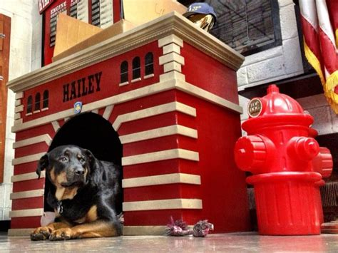 firehouse dog house quot hailey quot dog house wall shields