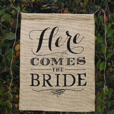 Burlap Wedding Banner Here Comes The by Khaki Here Comes The Jute Fabric Burlap