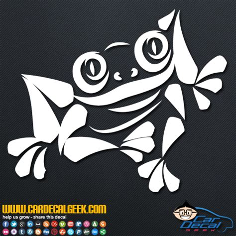 cool decals cool tree frog car window decal sticker wildlife decals