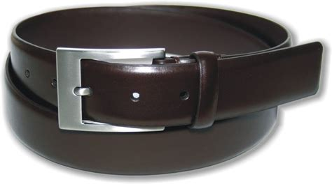 mens brown coated leather suit belt