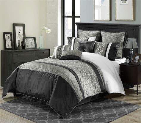 full white comforter black and white comforter sets full leaves pattern desk
