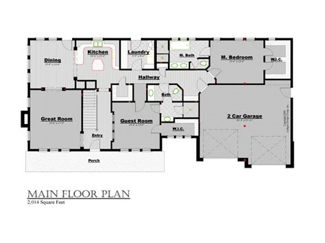 main level floor plans r 4028 2 story craftsman lythgoe design
