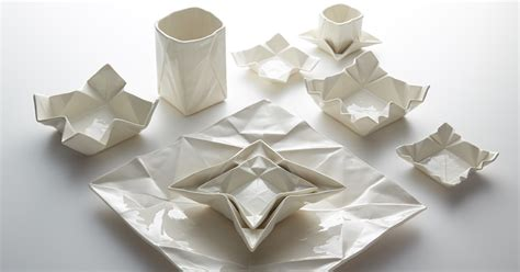 Origami Plates - ceramic origami plates and dishware by moij design colossal