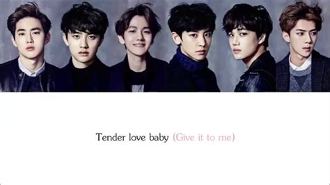 exo tender love lyrics exo k tender love hangul romanization english