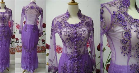 kebaya modifikasi 1 set wedding nesta wedding dress kebaya penguin ungu muda 1
