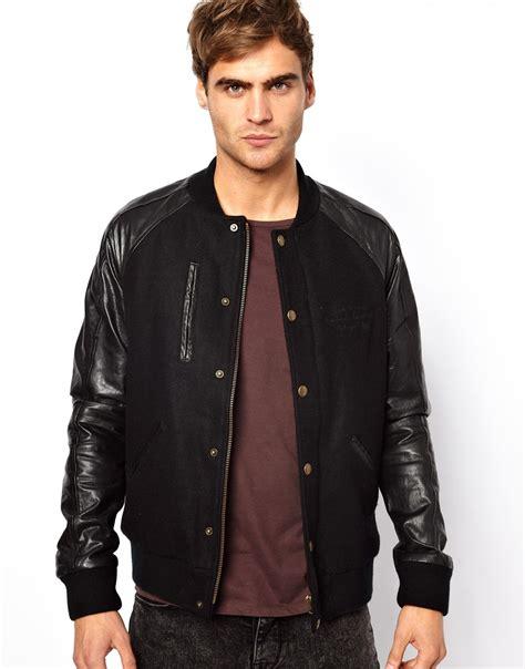 Jaket Bomber Original New Black Jaket Bomber Parasut black bomber jacket leather sleeves jacket to