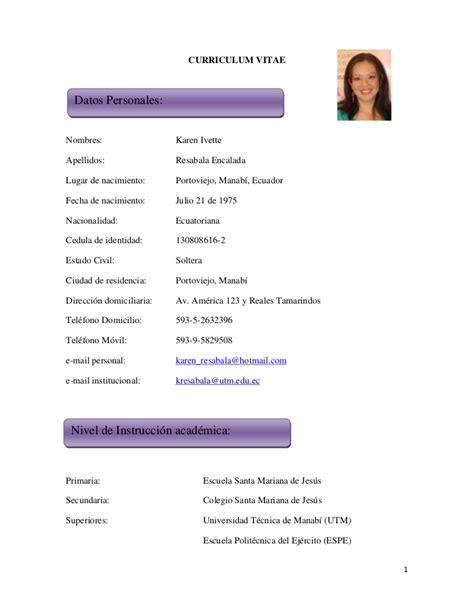 Modelo Completo Curriculum Vitae modelo de curriculum vitae docente modelo de curriculum