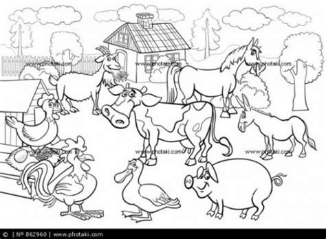 imagenes para colorear animales de la granja 50 dibujos de granjas y animales para colorear colorear