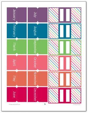 planner tabs ideas pinterest printable tabs