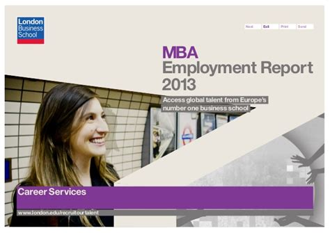 Emerson Europe Mba Talent Program by Mba Employment Report 2013 Business School